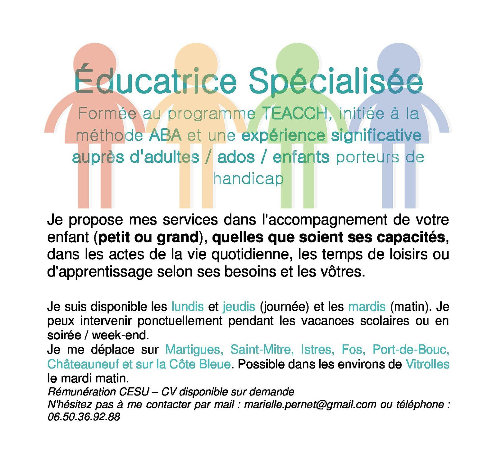 ANNONCE EDUCATRICE SPECIALISEE
