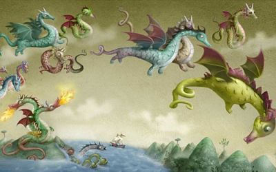 Un groupe de dragons