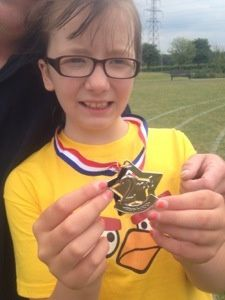 A medal! Weds 26th June 2013