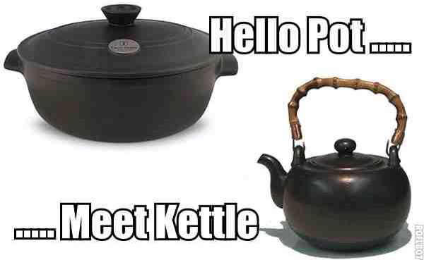 A pot and a kettle #funee