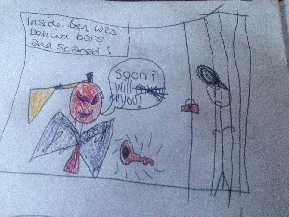 """""""The Adventures of Red, Ben and Haunted Girl"""" - a comic by D"""