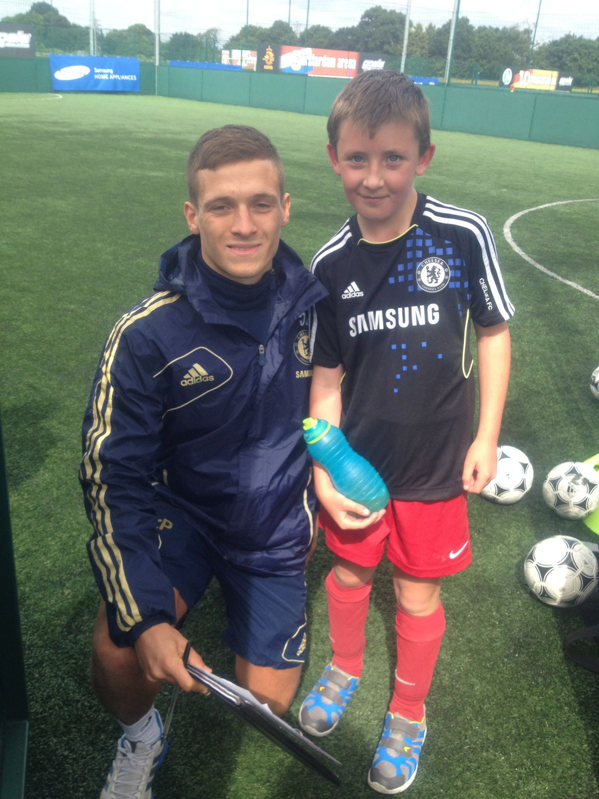 Mr Pick living his dream with Chelsea and Samsung #autism