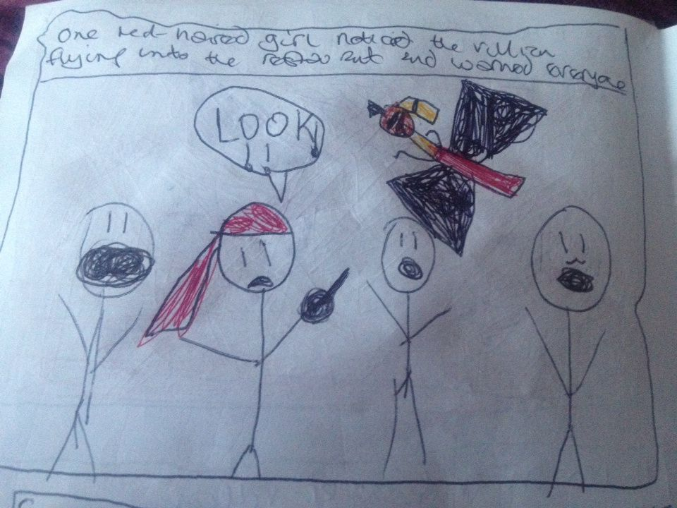 """The Adventures of Red, Ben and Haunted Girl"" - a comic by D"