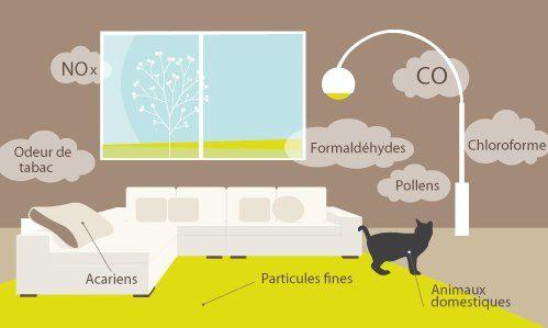 L'air intérieur de nos habitats est souvent plus pollué qu'à l'extérieur !