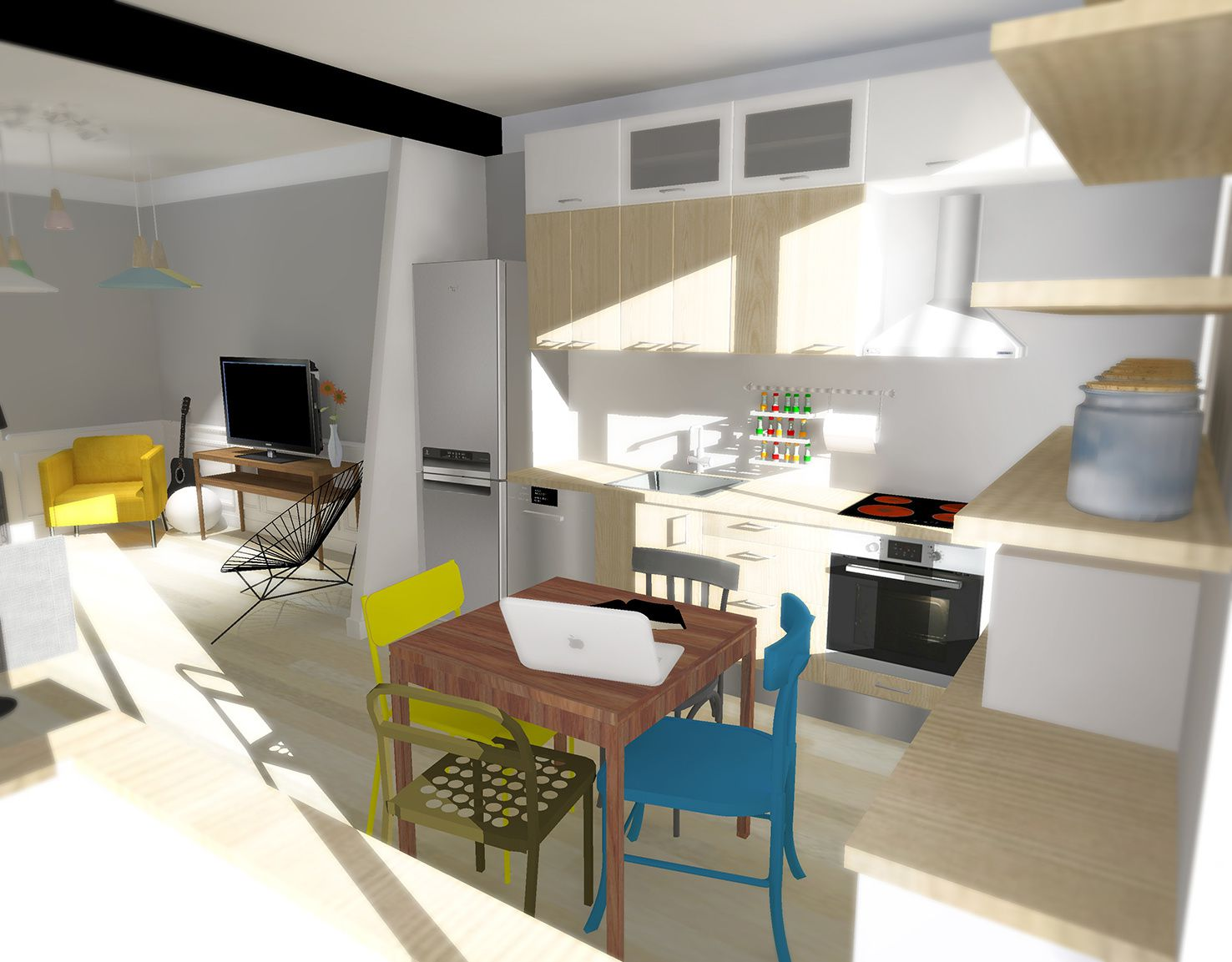 Appartement souplex en cours l k kevin zanni architecte for Conception 3d appartement