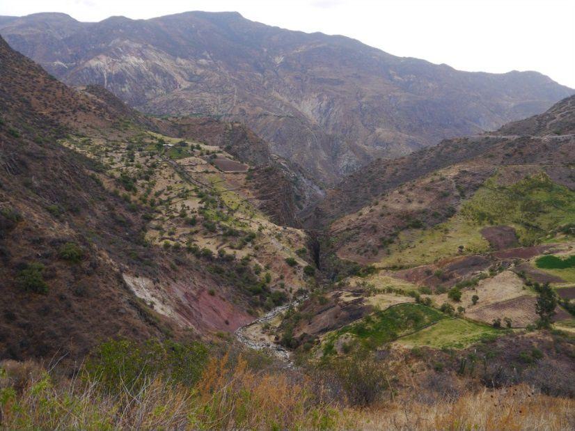 Depuis des centaines d'années, le bétail introduit d'Europe par les Hispaniques a érodé les Andes. Environs de Chumpi (Ayacucho), au Pérou, vers 3000m d'altitude. Photo: Pierre-Olivier Combelles (2012)