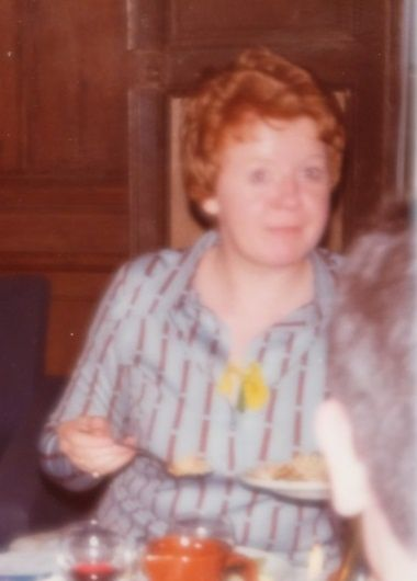 Elizabeth Wilkie, my dear nurse and friend. Be in peace and joy where you lay, Elspeth. Your Pierre-Olivier.