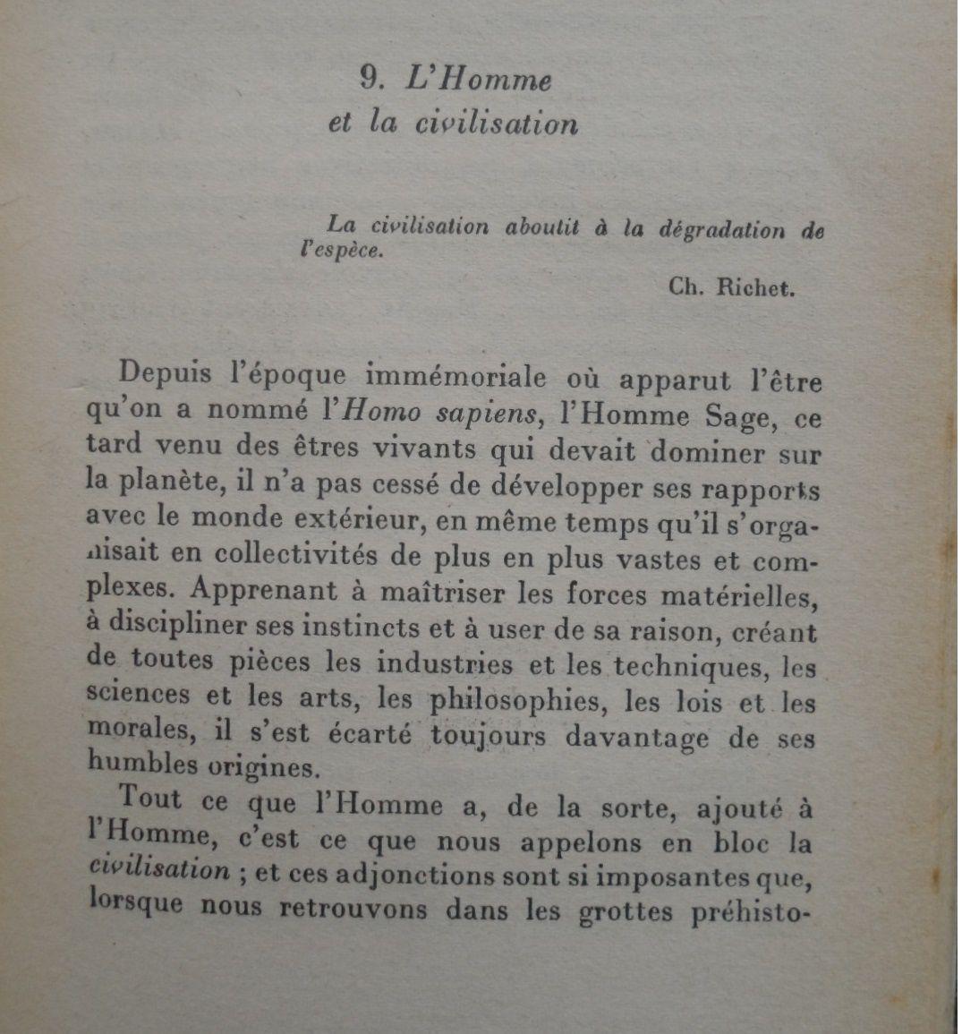 L'Homme et la civilisation (Jean Rostand)