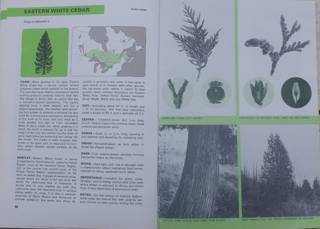 R.C. Hosie: Native trees of Canada. Published by Fitzhenry & Whiteside Ltd. & the Canadian Government, 1979.
