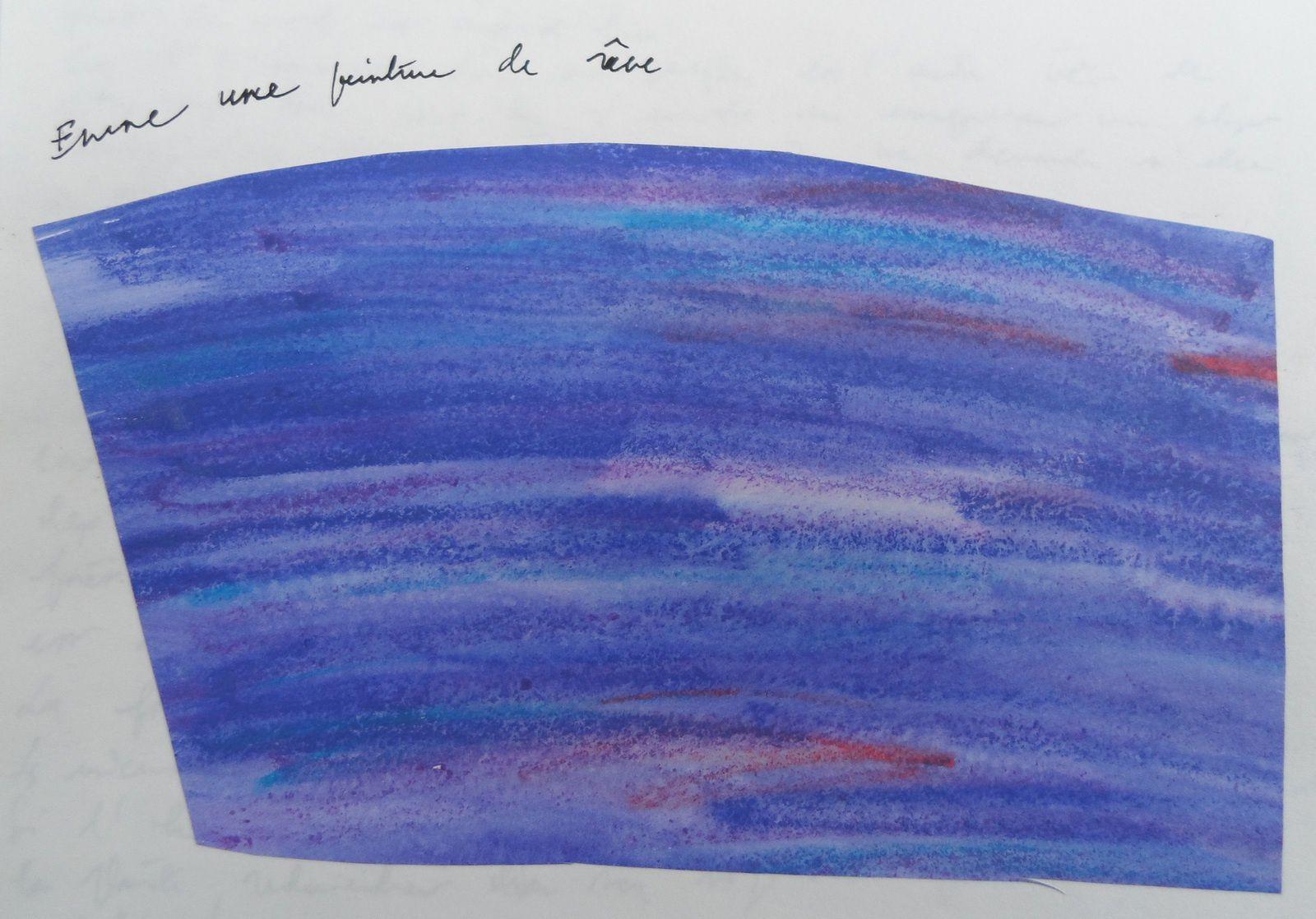 Encore une peinture de rêve. Craies aquarellables et eau. Pierre-Olivier Combelles, années 1990.