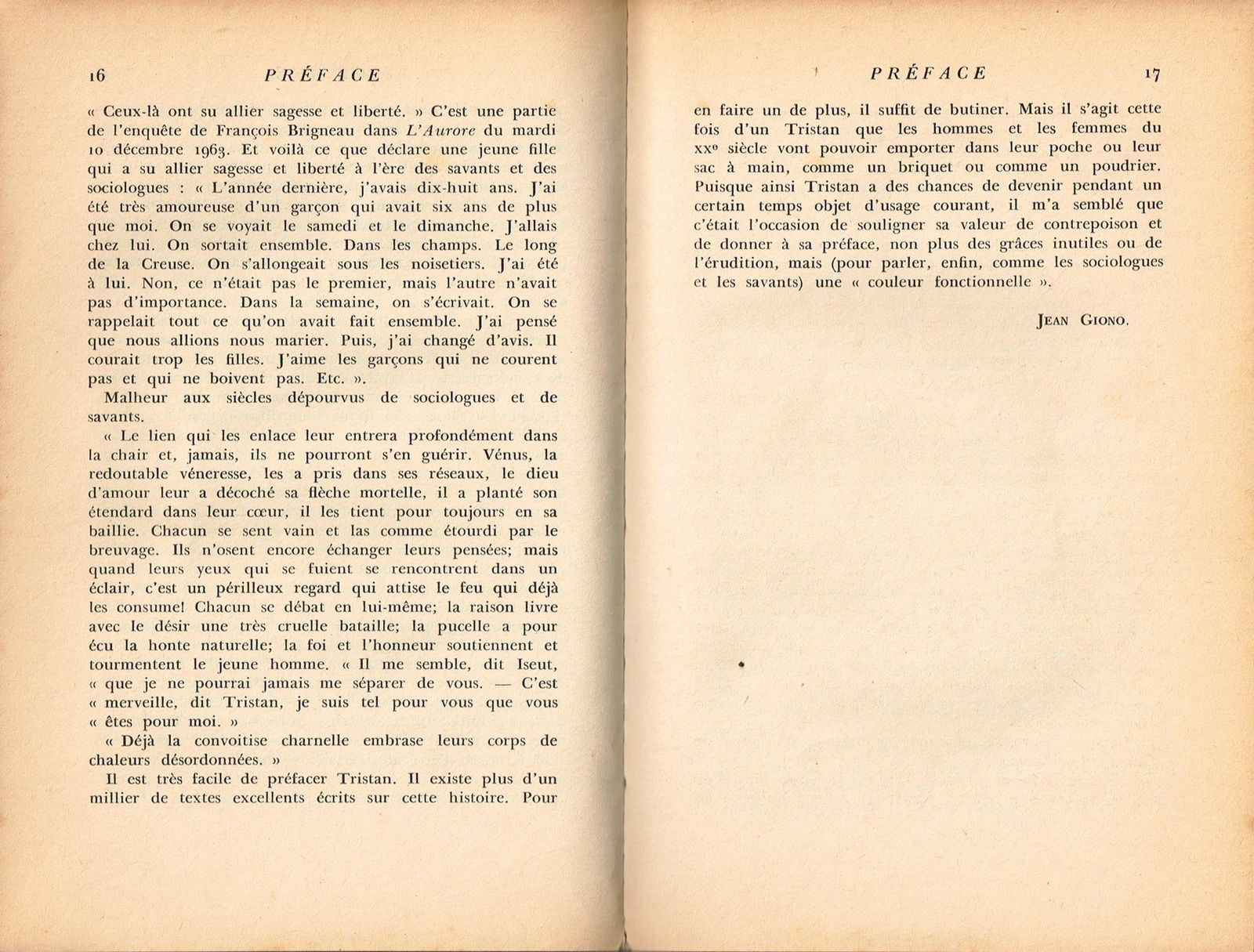 &quot&#x3B;Les temps ont changé&quot&#x3B;... Préface de Jean Giono à Tristan et Iseut (1941)