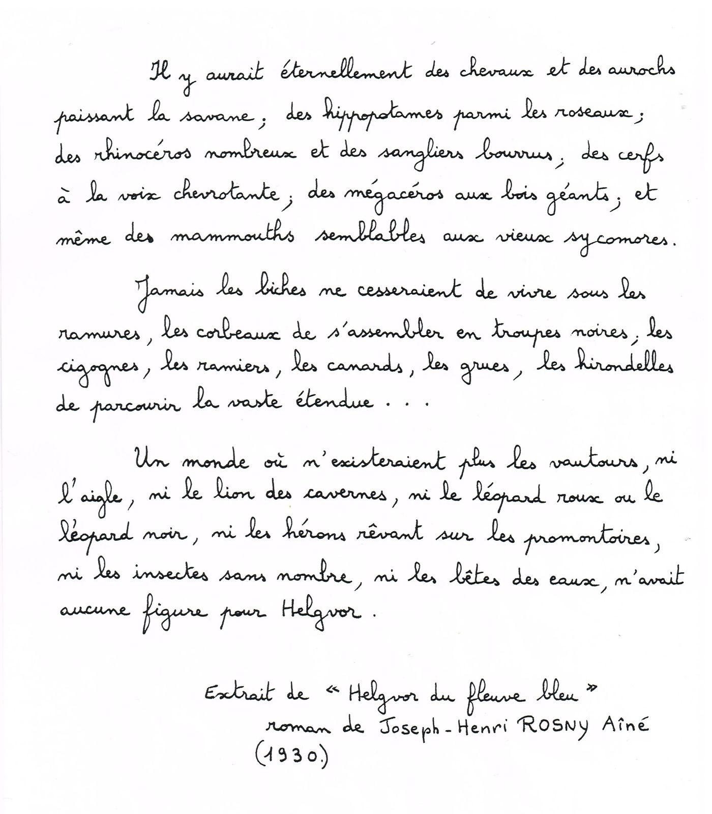 Un extrait copié à la main  pour moi par Michel Sennepin, que je remercie chaleureusement.