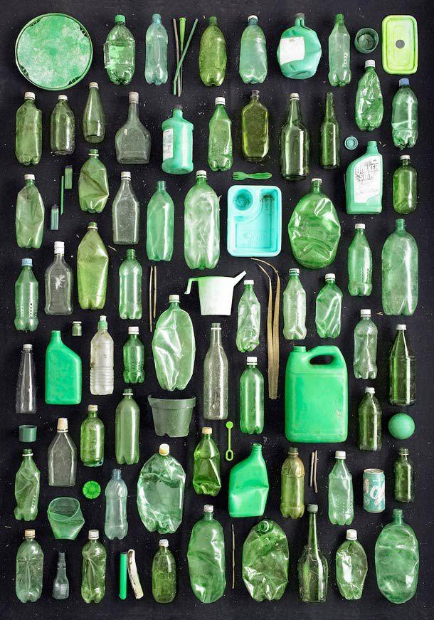 Avec les déchets dans la nature : une activité artistique