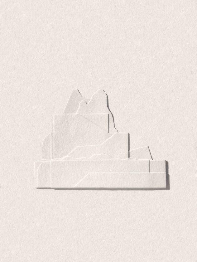 Des paysages avec des chutes de papier