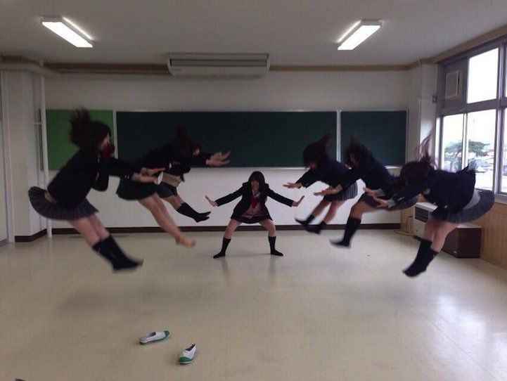 Des photos de groupe façon Manga