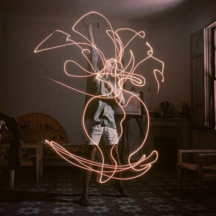 Du light painting, comme Picasso !