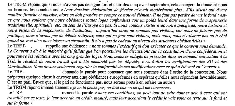 CMF &amp&#x3B; GLDF : le compte-rendu censuré du Conseil Fédéral Extraordinaire de la GLDF du 10 juillet 2014.