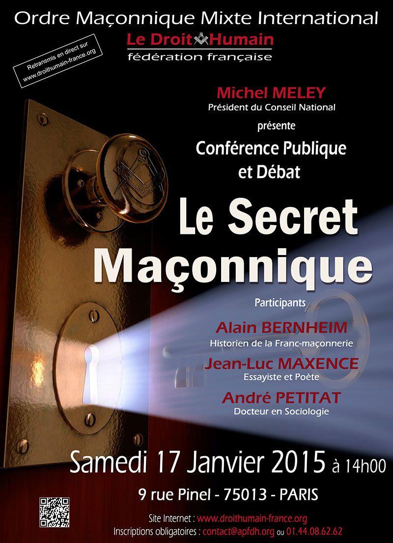 Droit Humain : Conférence « le Secret Maçonnique » (17 janvier 2015)