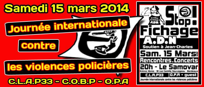 [Bordeaux - 15 mars] Journée internationale contre les violences policières