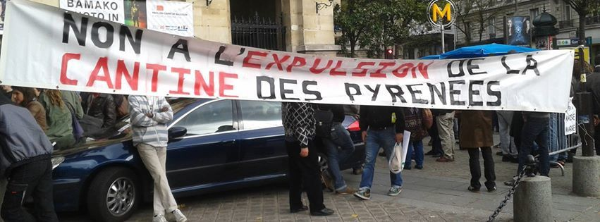 Paris - Expulsion de la Cantine des Pyrénées