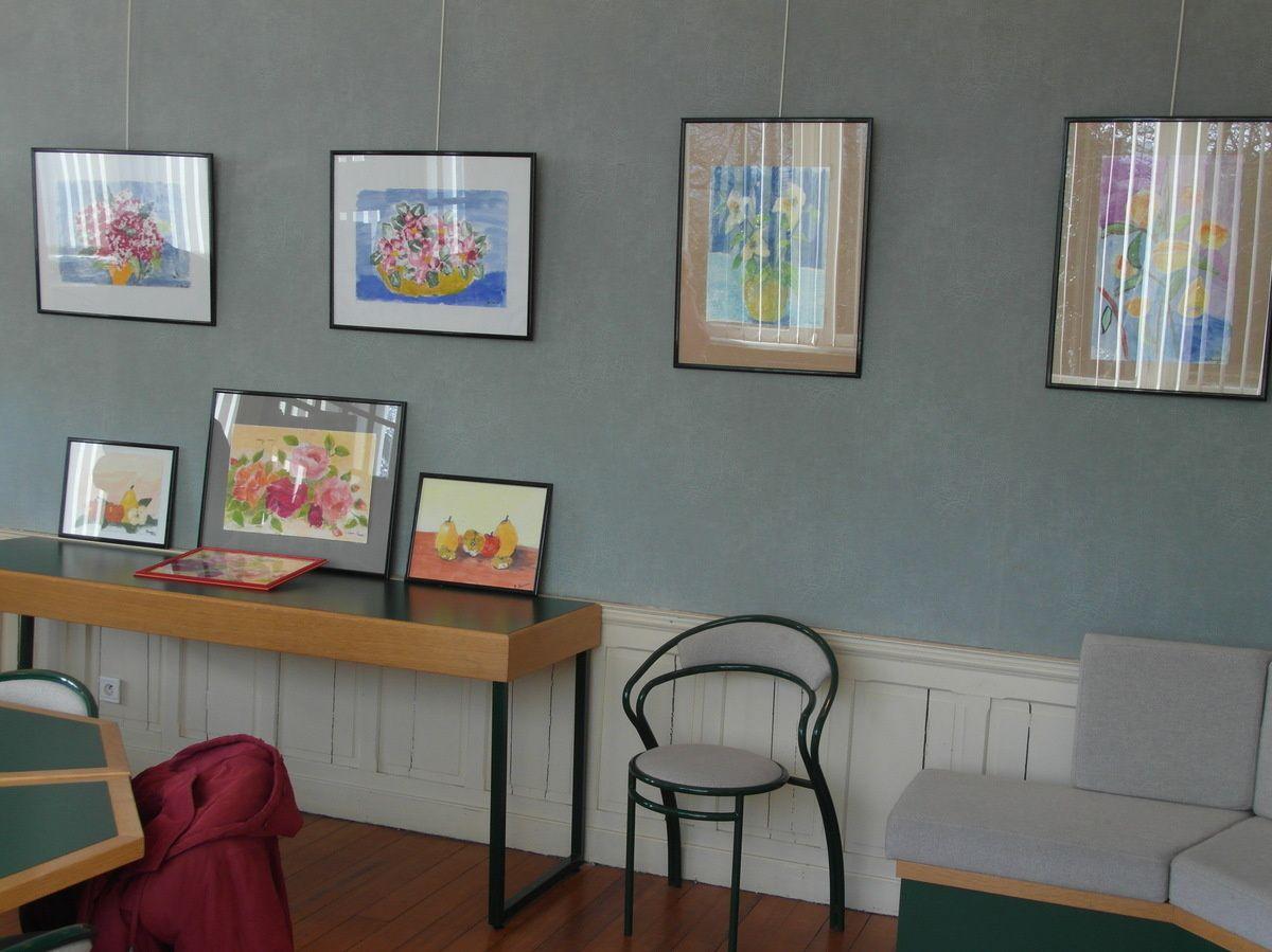 Exposition des peintures des résidents à la médiathèque Diderot - 2013