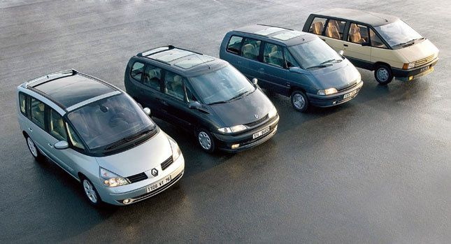 The 4 generations of Renault Espace