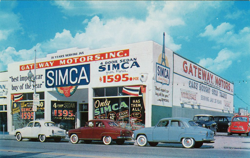 Simca dealer in the late 60's