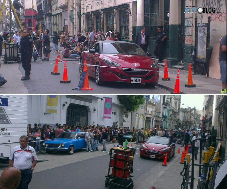 Peugeot RCZ - Pictures on the set with Will Smith