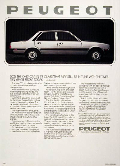 Peugeot USA / Canadian advertisements