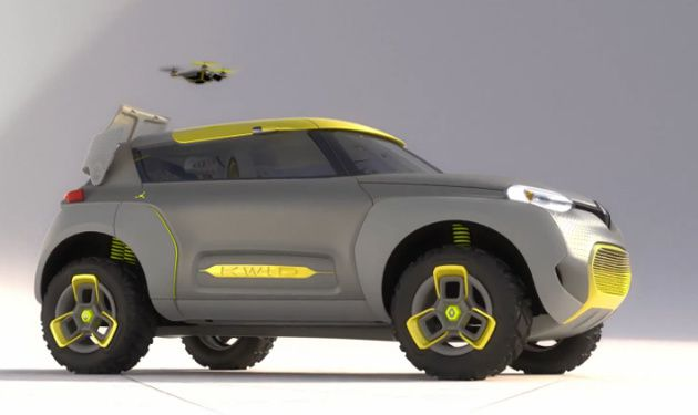 RENAULT KWID WITH BUILT-IN DRONE QUADCOPTER