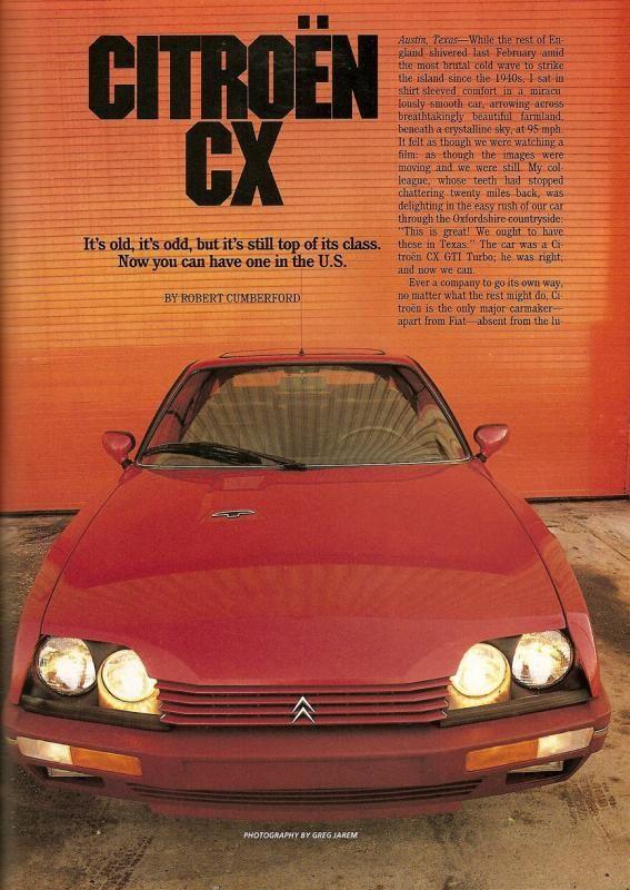 Citroën CX review USA / Canada