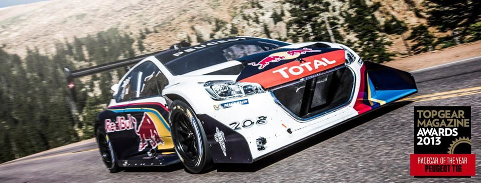 208 T16 PIKES PEAK THE 2013 RACECAR OF THE YEAR