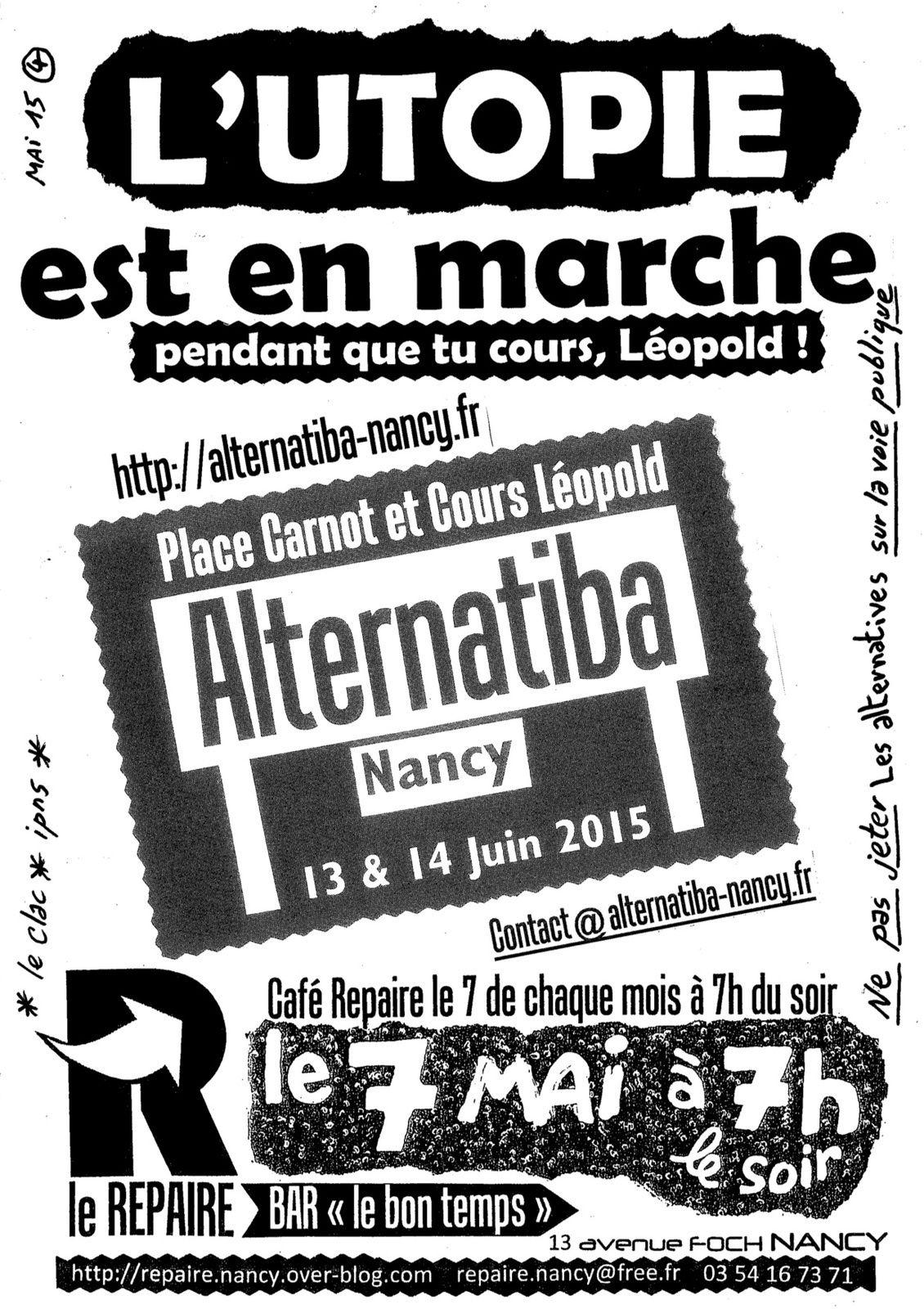 Le Repaire de Nancy vous parle d' Alternatiba