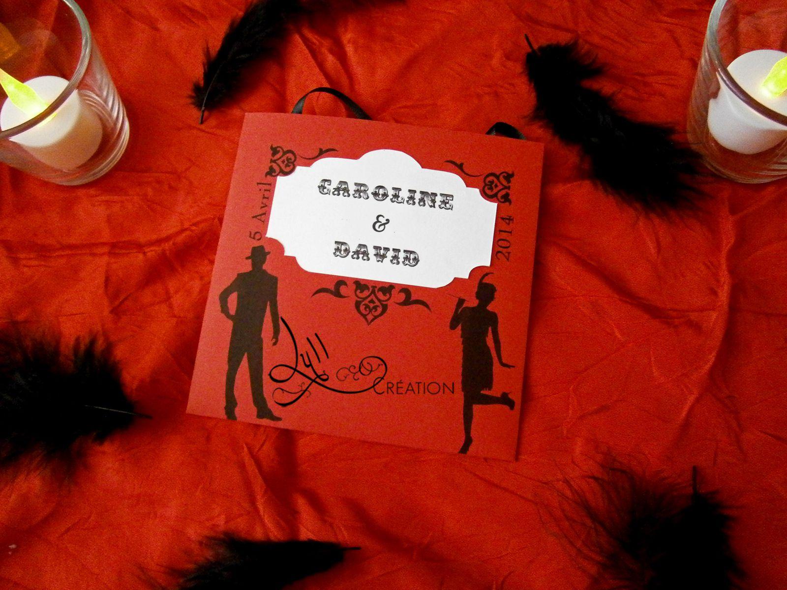 Thème Cabaret: Menu et Nom de table prohibition