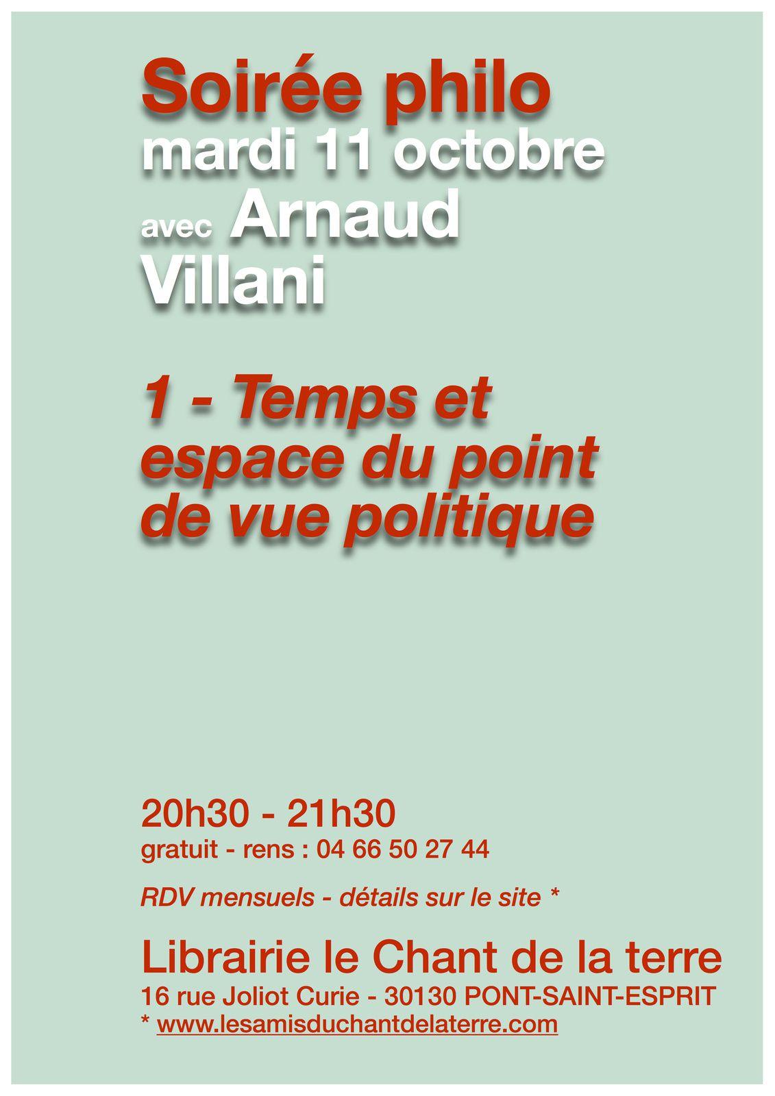 Soirée philo avec Arnaud Villani