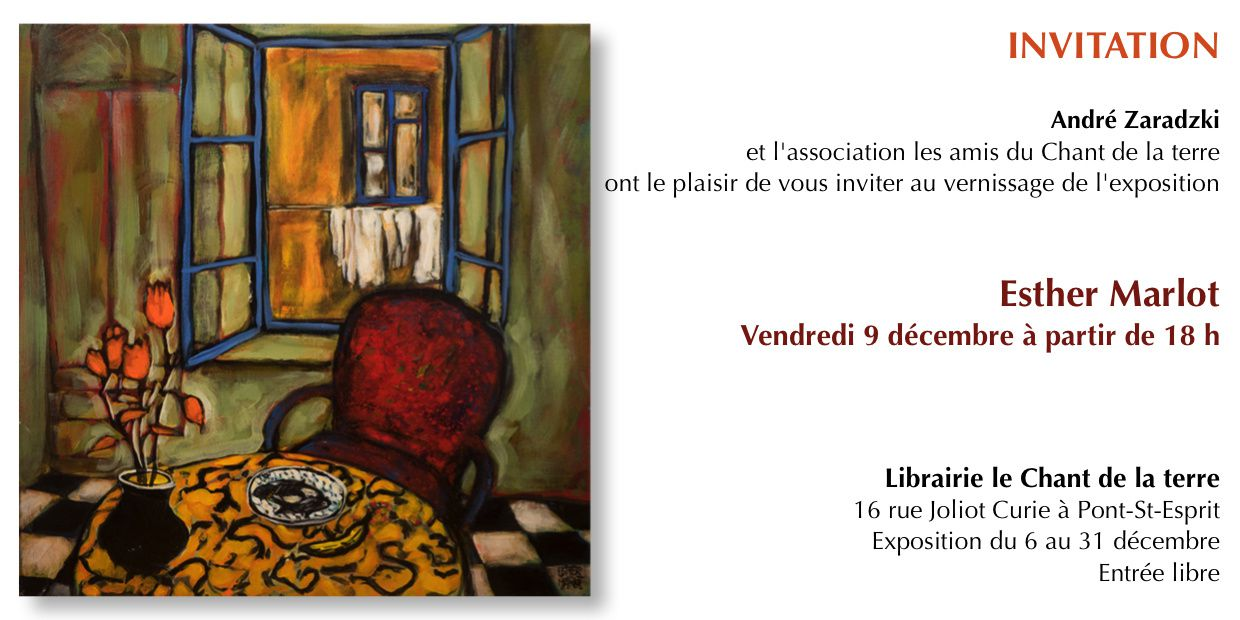 INVITATION VERNISSAGE ESTHER MARLOT