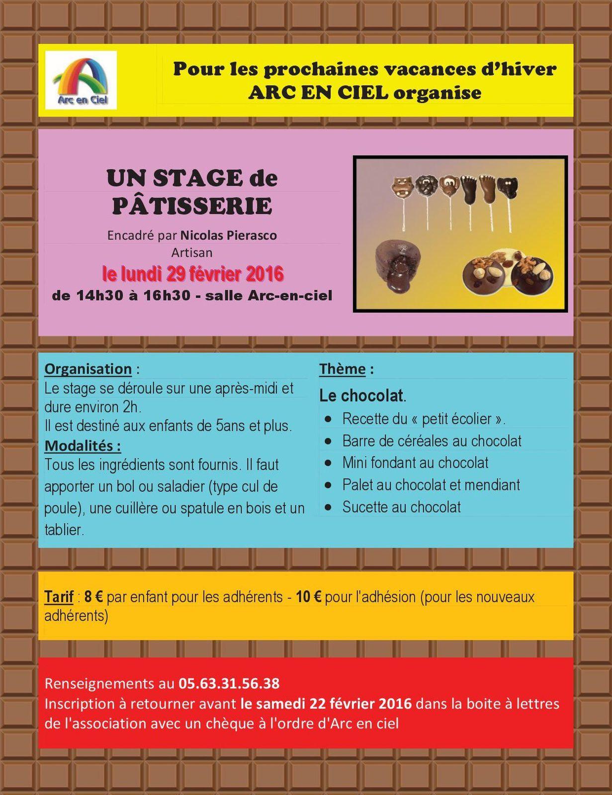 Stage vacances d 39 hiver 2016 association arc en ciel - Vacances scolaires hiver 2016 ...