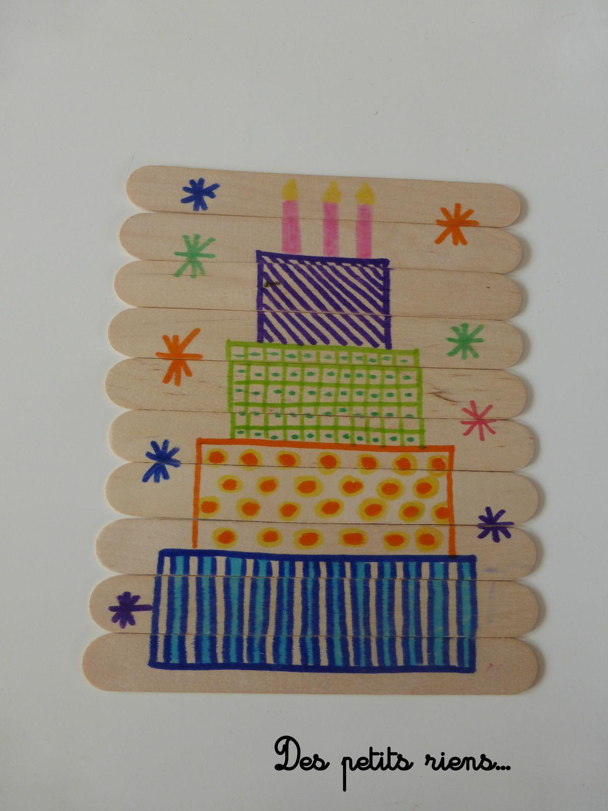 Des puzzles en deux coups de batônnets à glace!