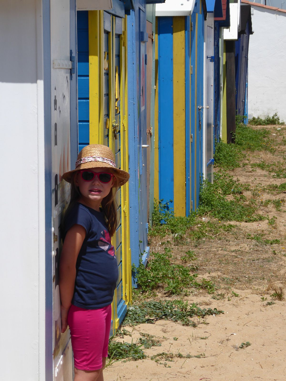 Les vacances sur l'île d'Oléron: les cabanes colorées de St Denis