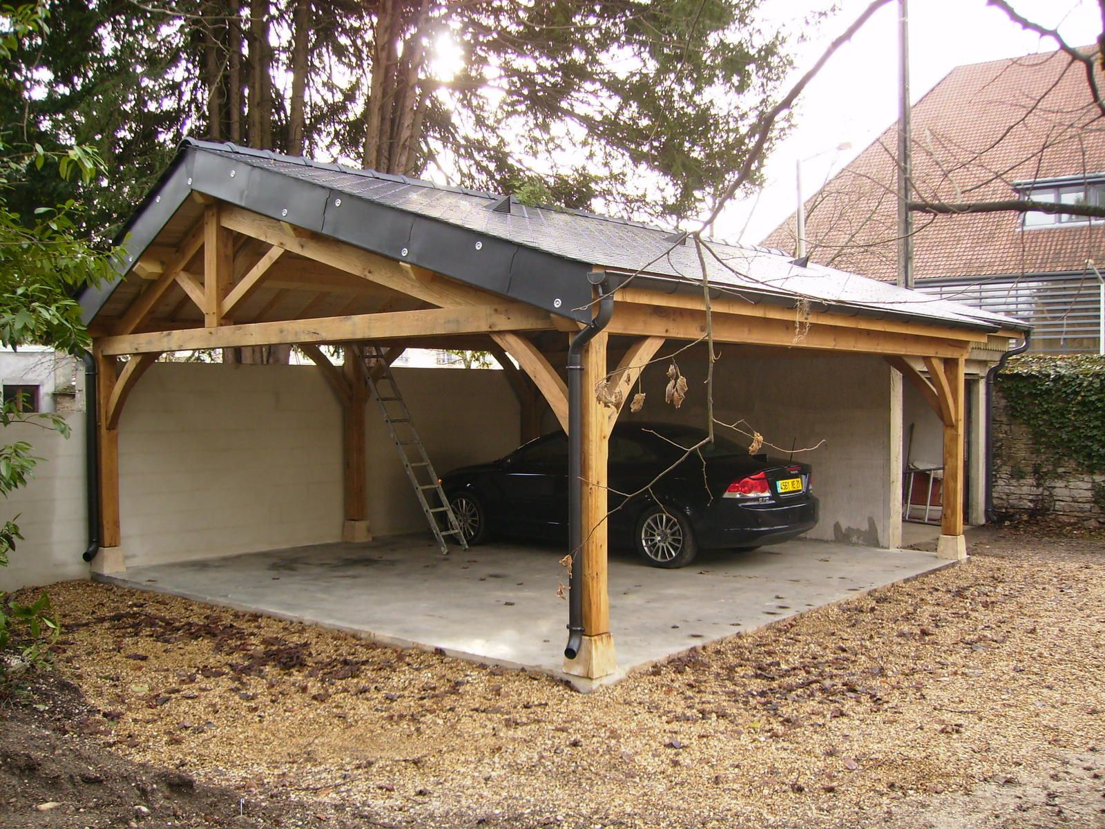 Garage en chene 2 voitures le blog du menuisier de la for Garage pret voiture