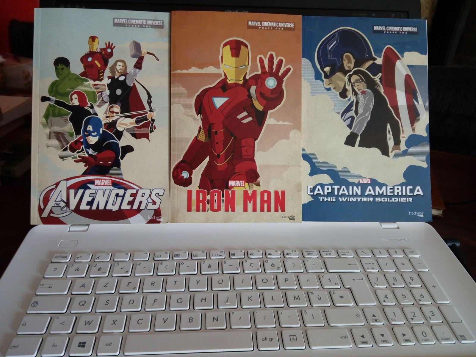 61,5 euros de dépensés avec ces trois beaux livres jeunesses Marvel et ce petit ovni
