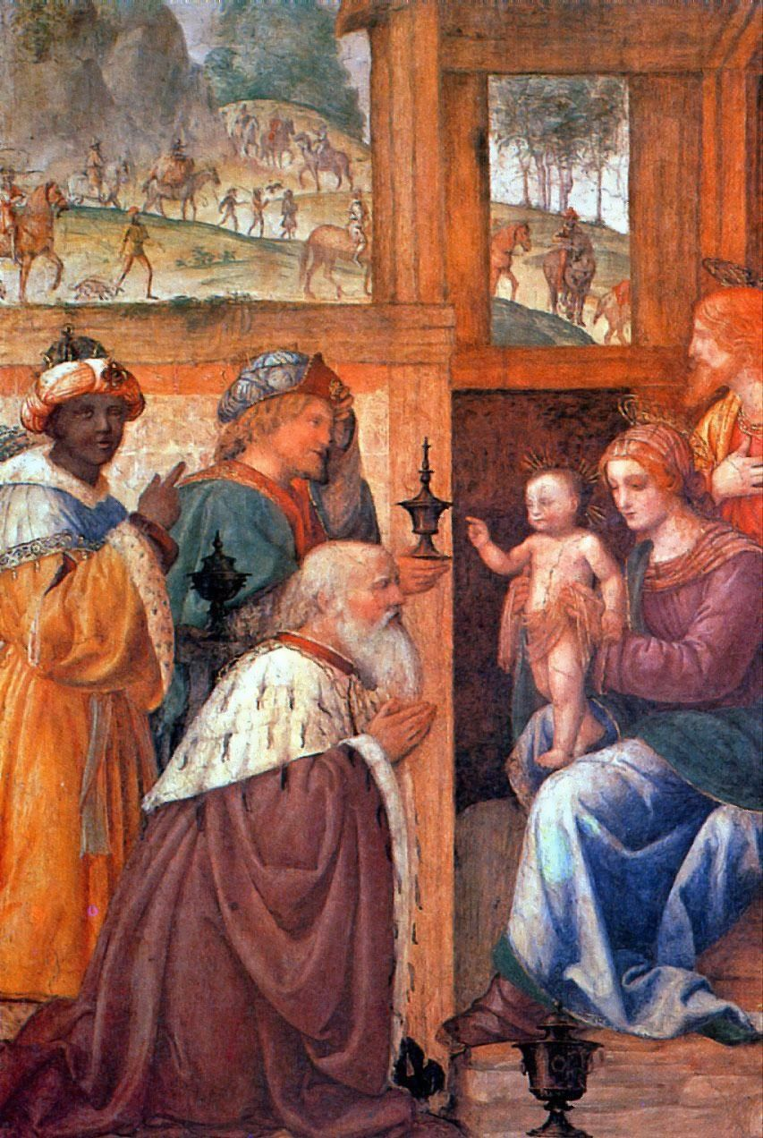 L'adoration des mages. Bernardino Luini (Lombardie XVI° siècle)