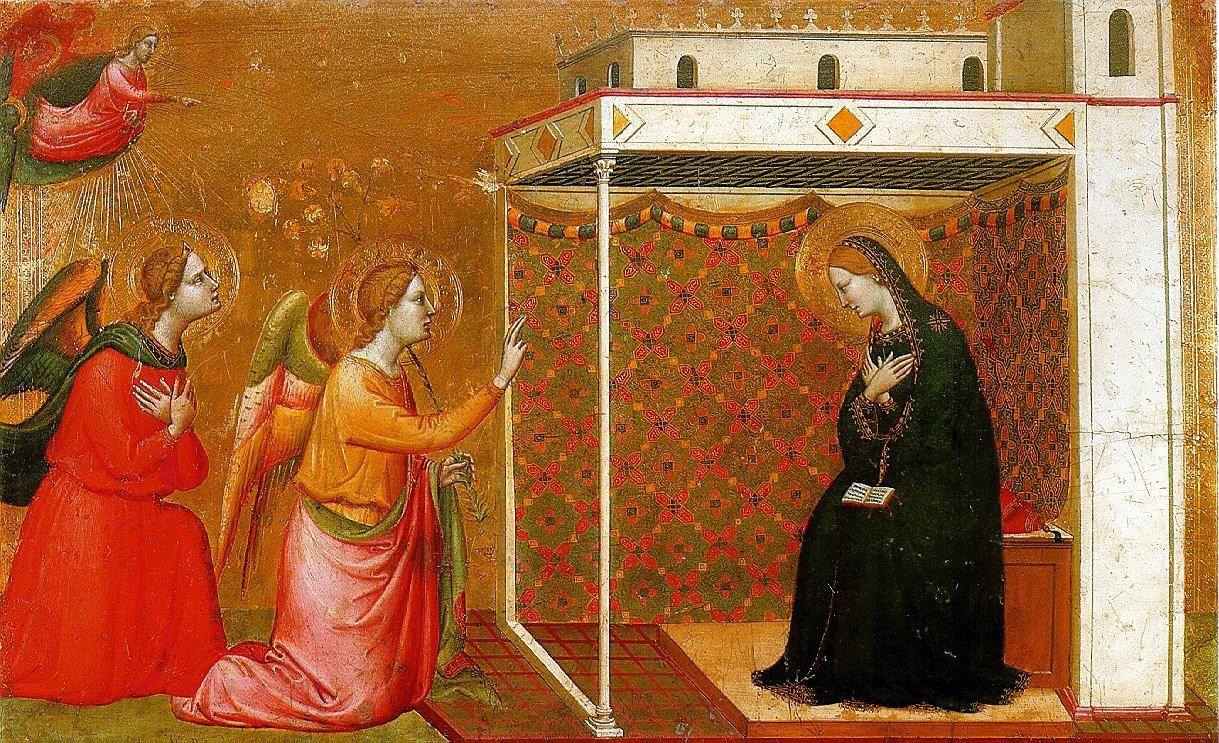 Annonciation. Daddi (XIV° siècle Florentin)