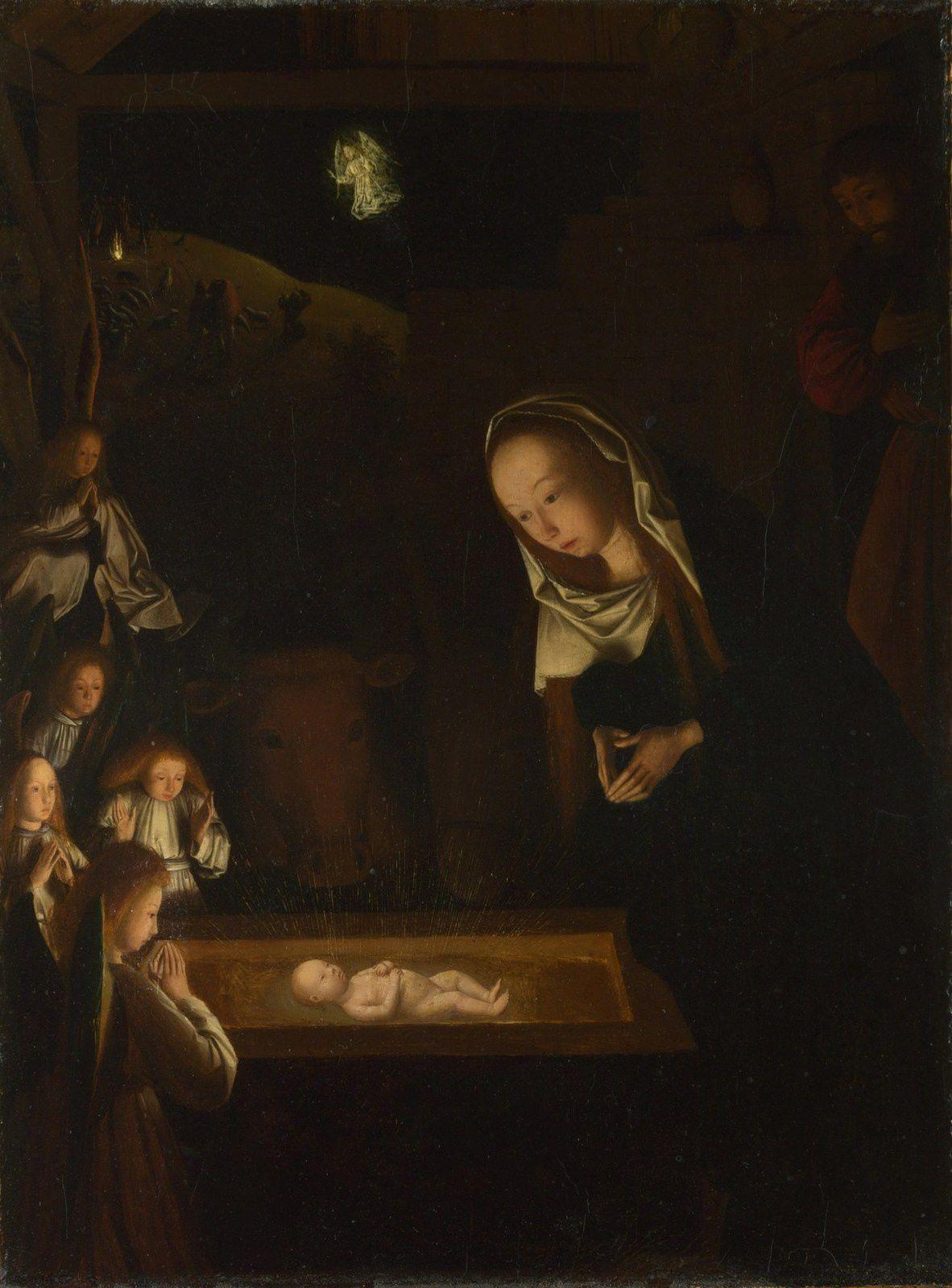 Geertgen Tot Sint Jans : Nativité nocturen (Pays bas XV°)