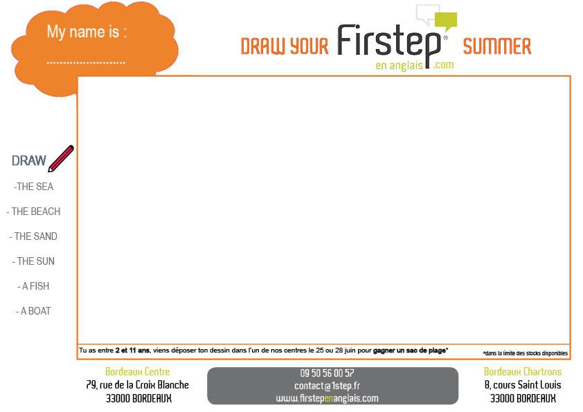 Draw your Firstep summer !