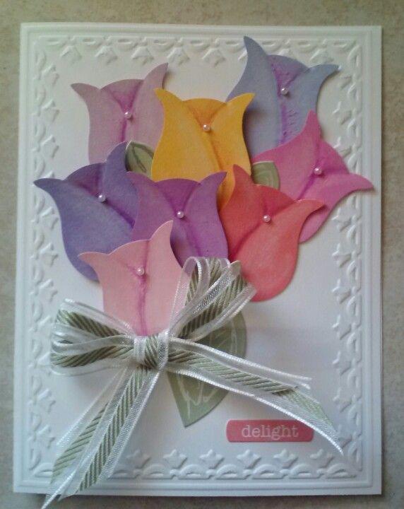 La carte que j'ai sélectionné sur Pint - http://weddingcardsmozelle.blogspot.com/2013/10/love-that-owl-punch-it-allowed-tulips.html