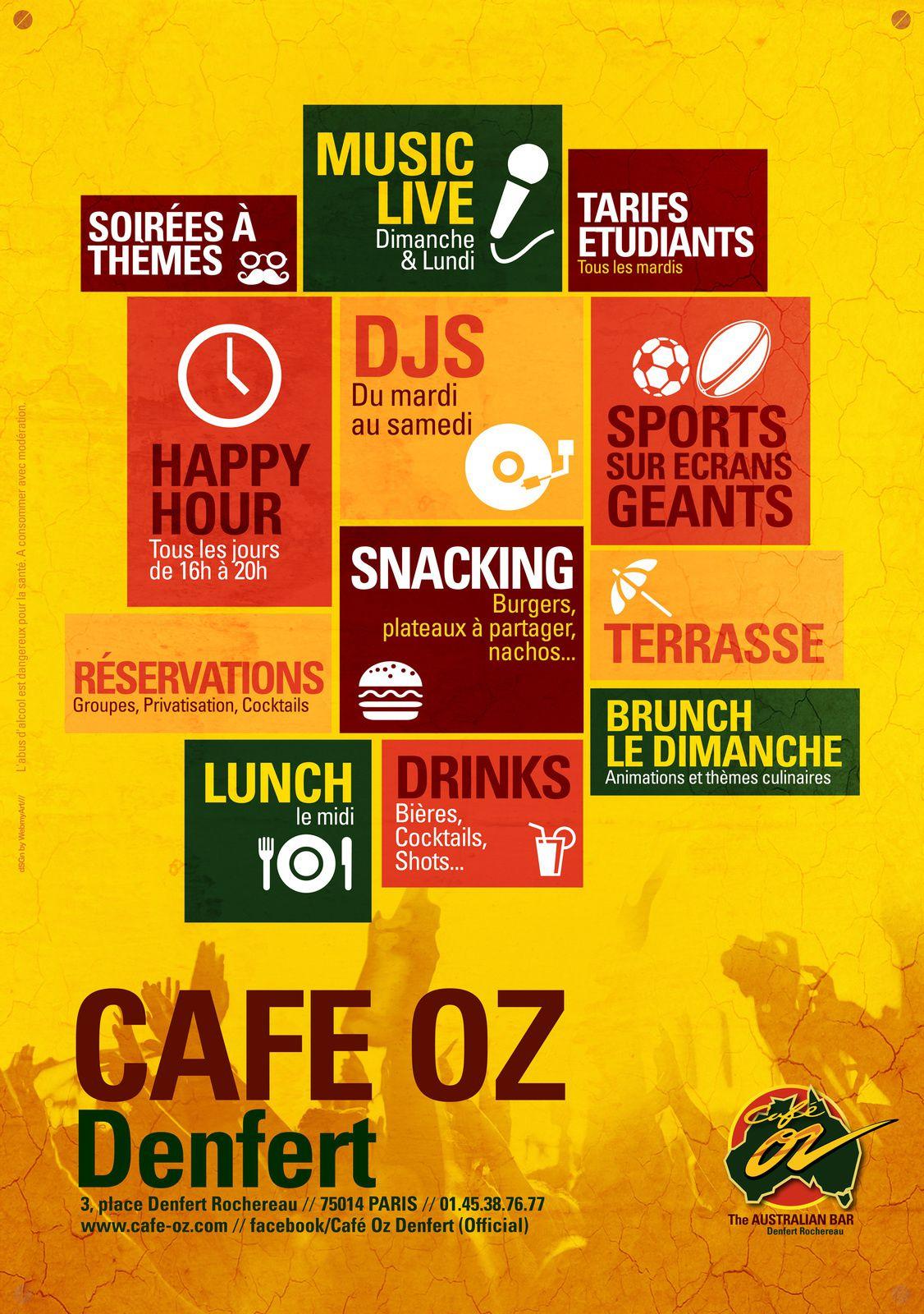 Artwork Affiches Soirées Café Oz - 3