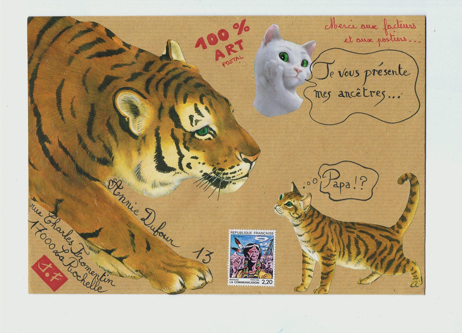 """Et pour Annie Dufour qui ne se lasse pas du chat """"Feu Vert""""."""