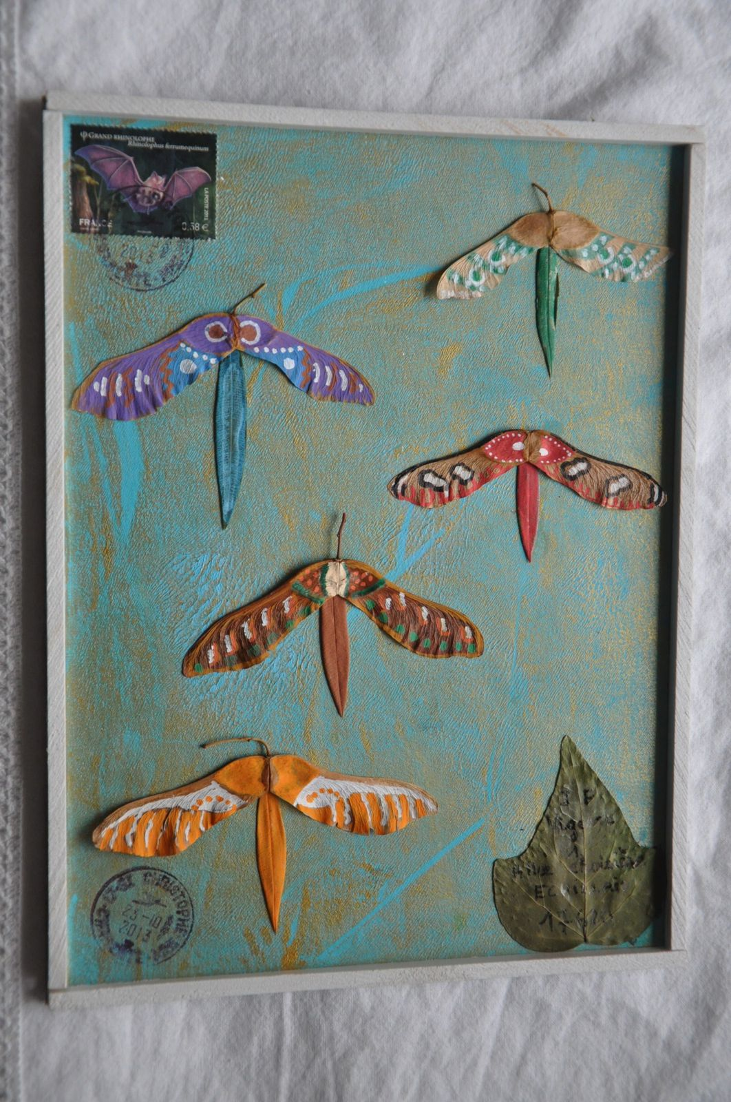 """Reçu de Nicole Hulot ce merveilleux disque """"comme autrefois"""" et ces magnifiques papillons...Quelle imagination! BRAVO et MERCI!"""