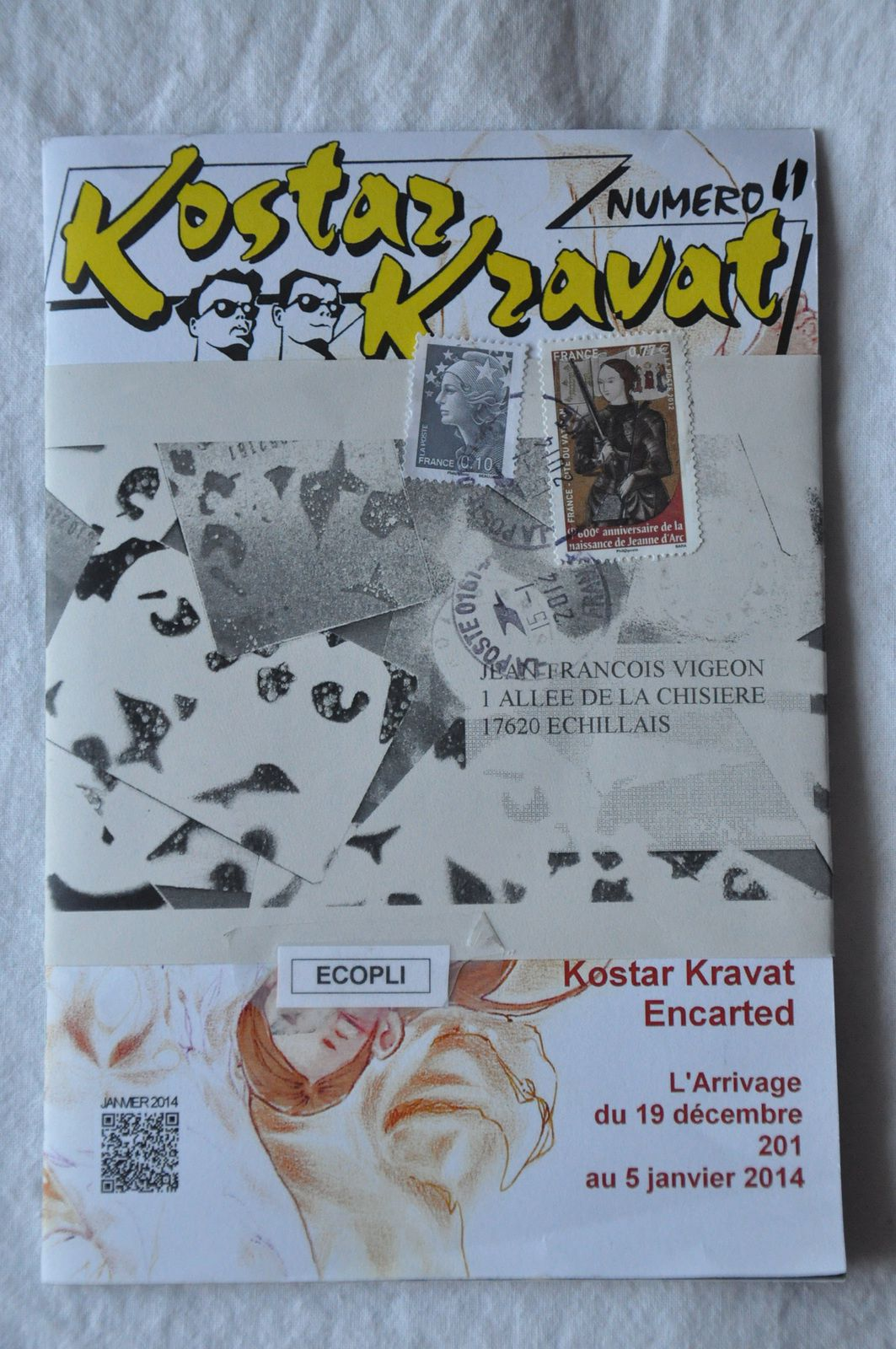 """Merci beaucoup à Aristide 1308 pour cet exemplaire de """"Kostar Kravat"""", une fanzine très étudiée!"""